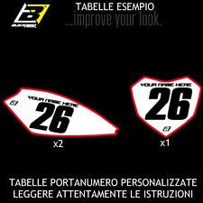 BLACKBIRD HONDA CRF 250 2012 2013 KIT TABELLE PORTANUMERO PERSONALIZZATE BASIC