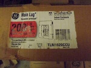 GE 200 Amp 16-Space 32-Circuit Indoor Main Lug Circuit Breaker Panel