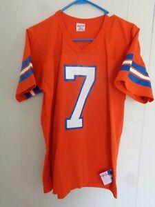 Vintage Denver Broncos John Elway Rawlings NFL Medium #7 ORANGE