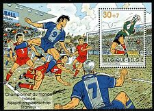Belgium obp BL76 - WORLDCUP FOOTBALL FRANCE  s/s 1996 - ** MNH