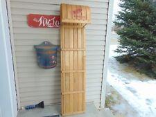 "vintage wooden snow toboggan slep  58"" nice    chalet decor  # 5642"