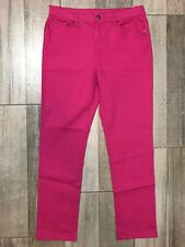 DG2 Diane Gilman Stretch Jeans Size 10 Pink Denim High Rise 29 Inseam Fast Ship
