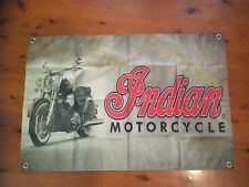 Banner  mancave flag scout cheif classic vintAge poster sign Indian motor cycle