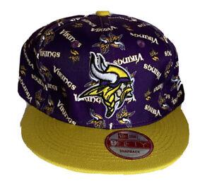 New Era 9fifty Snap Back Minnesota Vikings Cap Hat NFL