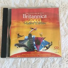 Encyclopedia Britannica 2003 Student Edition CD-ROM Windows 98/2000/Me/XP