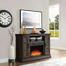 """55"""" TV Stand Entertainment Center Home Theater Media Fireplace Console Brown"""