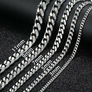 Stainless Steel 316L Sliver Curb Link Chain Necklace