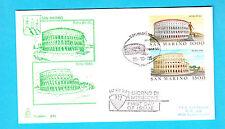 BUSTA FDC SAN MARINO Capitolium Viaggiata 1985  ROMA ANTICA COLOSSEO  2 VALORI