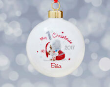 PERSONALISED ME TO YOU BABY'S 1ST CHRISTMAS BONE CHINA HANGING BAUBLE - NEW