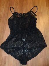 Prettylittlething teddy ~ black lace ~ medium  sexy romper