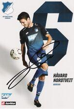 Havard Nordtveit , 1899 Hoffenheim , Autogrammkarte Saison 2017/2018 , 17/18