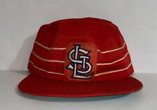 ST LOUIS CARDINALS PILLBOX HAT CAP VINTAGE 60s 70s LEATHER MLB 7 1/8 - 7 3/8