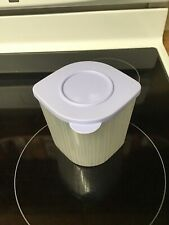 Tupperware Container Lavender Lid  5057A-5  Holds 4 1/3 Cups
