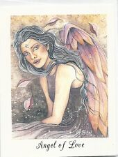 Jessica Galbreth Angel of Love Note Card Fairy Rare New Feather Wings Faery