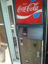 Cavalier coke coca cola soda bottle vending machine coin op for parts or repair