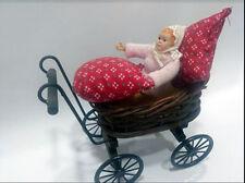 Bebe mas carrito para casita muñecas  dollhouse