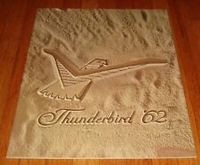 Original 1962 Ford Thunderbird Deluxe Sales Brochure Sports Roadster Landau
