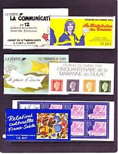 FRANCE BOOKLETS: (17) DIFFERENT COMMEMORATIVES #2099a//#2846a.  SCV $318.50