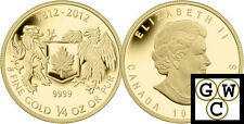 2012 Gold 'War of 1812' 1/4oz $10 Pure Gold Coin .9999 Fine (12999) (NT)