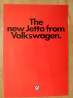 VOLKSWAGEN JETTA 1979-80 UK Mkt Sales Brochure - VW
