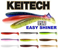 """KEITECH EASY SHINER Scent Soft Lures 2"""" 12Pcs  3""""  Fishing Paddle Tail Shad Jig"""