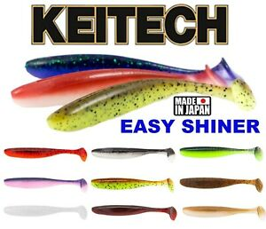 "KEITECH EASY SHINER Scent Soft Lures 2""  3""  4"" 5"" 6,5"" 8"" Fishing Tail Shad Jig"