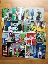 100 Autogramme Fußball Bundesliga AUTOGRAMMKARTEN + 100 versch. original AK ++
