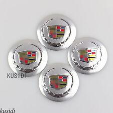 "4x 56mm 2.2"" Silver Cadillac Wheel Center Hub Cap Emblem Badge Decal Sticker"