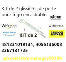 KIT de 2 glissières de porte pour frigo encastrable 481231019131, 4055136008