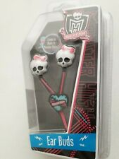 Monster High EAR BUDS Works w/ iPod iPhone MP3 MP4 Games skull