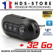 TÉLÉCOMMANDE CLÉ DE VOITURE CAMÉRA ESPION TCHD1 FULL HD 1080P + 32 GO 2 LED IR