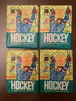 Lot (4)-1990-91-O Pee Chee OPC (Topps Canada) Hockey Wax Pack of Cards from Box