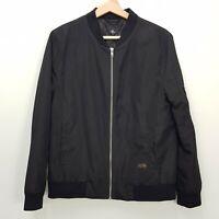 THRILLS | Womens Black Zip Up Bomber Jacket [ Size AU 10 or US 6 ]