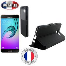 Etui Rabattable Noir Avec Ouverture Ecran pour Samsung Galaxy A5 2016