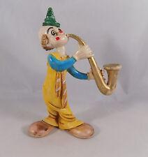Vintage Clown Figurine Italy Norlean Saxophone
