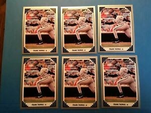 1991 leaf, baseball, frank thomas, #281, 50 card lot, mint