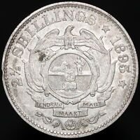 1895 | South Africa 2 1/2 Shillings | Silver | Coins | KM Coins