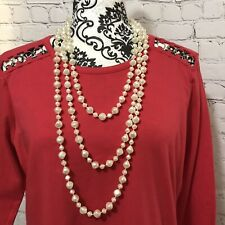 STUNNING VINTAGE FAUX PEARL NECKLACE