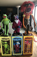 The Muppets Master Replicas Kermit Gonzo & Animal Complete Rare All 3 In Box.