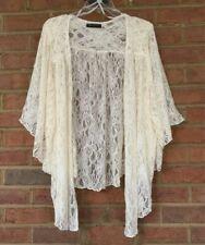 Womens NEW Plus Size 1X Ivory Soft Lace Cardigan Bolero Shrug Top