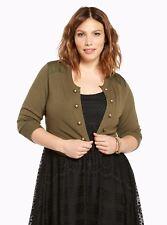 4b69df9a05759 Torrid Womans Olive Military Shrug Size 00 10