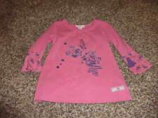 NAARTJIE KIDS 12-18 PINK BUTTERFLY FLORAL SHORT STYLE DRESS LONG SHIRT