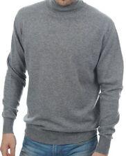 Balldiri 100% Cashmere Herren Rollkragen Pullover 2-fädig grau XL
