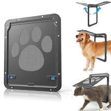 Pet Supplies Dog Cat Screen Door Footprint Pattern Window Screen Doggie Flap Pet