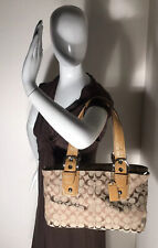 COACH Soho Brown and Tan Double Handled Purse Bag # F13117
