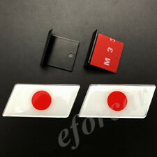 2pcs Japan Japanese Flag JDM Auto Front Grille Grill Emblem Badge Decal Sticker