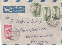 letter air mail Massabegh to Frankfurt