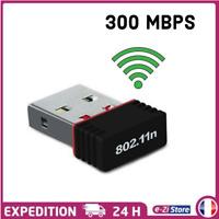 CLÉ USB DONGLE MINI ADAPTATEUR 300 Mbps WIFI 802.11 B G N Windows XP 7/8 VISTA