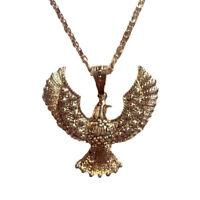 Elvis Presley Eagle Necklace Gold Chain Aloha Hawk Costume Jewelry 70s Las Vegas