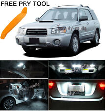 White Car Auto Light Interior LED Package 8x for Subaru Forester 1998-2011 L7
